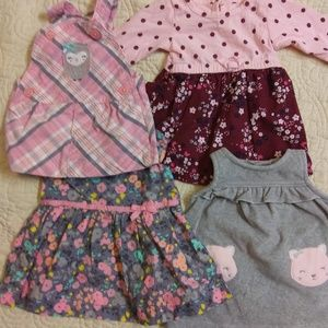 Other - Lot of 4 Newborn Baby Dresses Size NB
